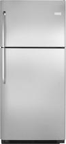 Frigidaire - 20.6 Cu. Ft. Top-Freezer Refrigerator - Stainless-Steel/Black