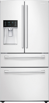 Samsung - 28.2 Cu. Ft. 4-Door French Door Refrigerator with Thru-the-Door Ice and Water - White