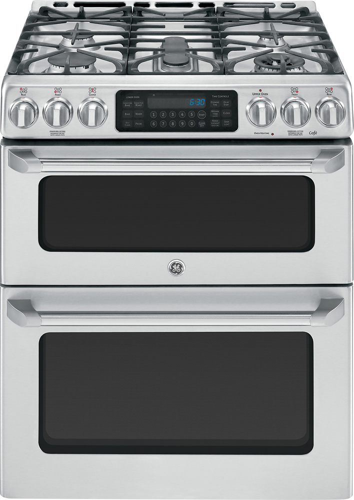 GE Cafe 67 Cu Ft SelfCleaning Freestanding Double Oven Gas