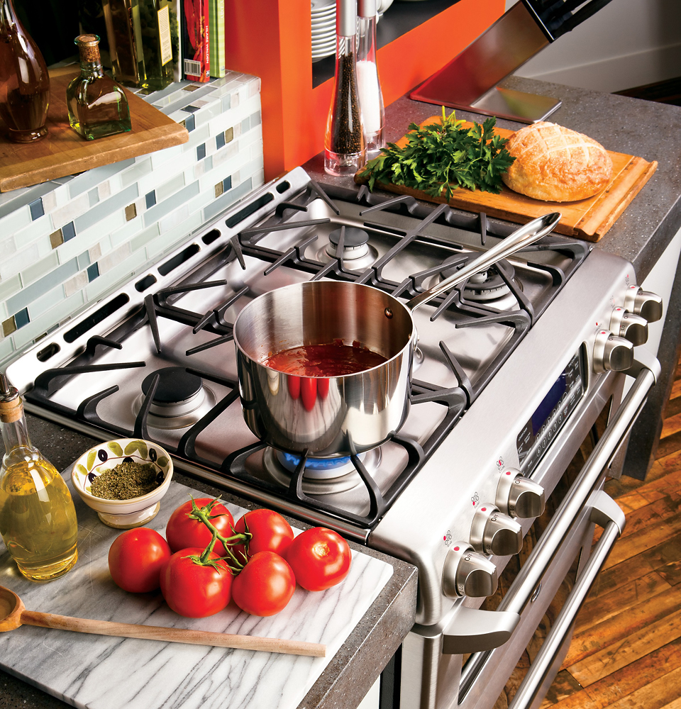 ft double oven gas convection range stainless steel at pacific sales - Double Oven Gas Range