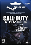 Valve - Call of Duty: Ghosts Steam Wallet Card ($59.99)