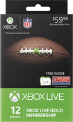 Microsoft - Xbox Live 12 Month Gold Membership - NFL Ultimate Fan Pack