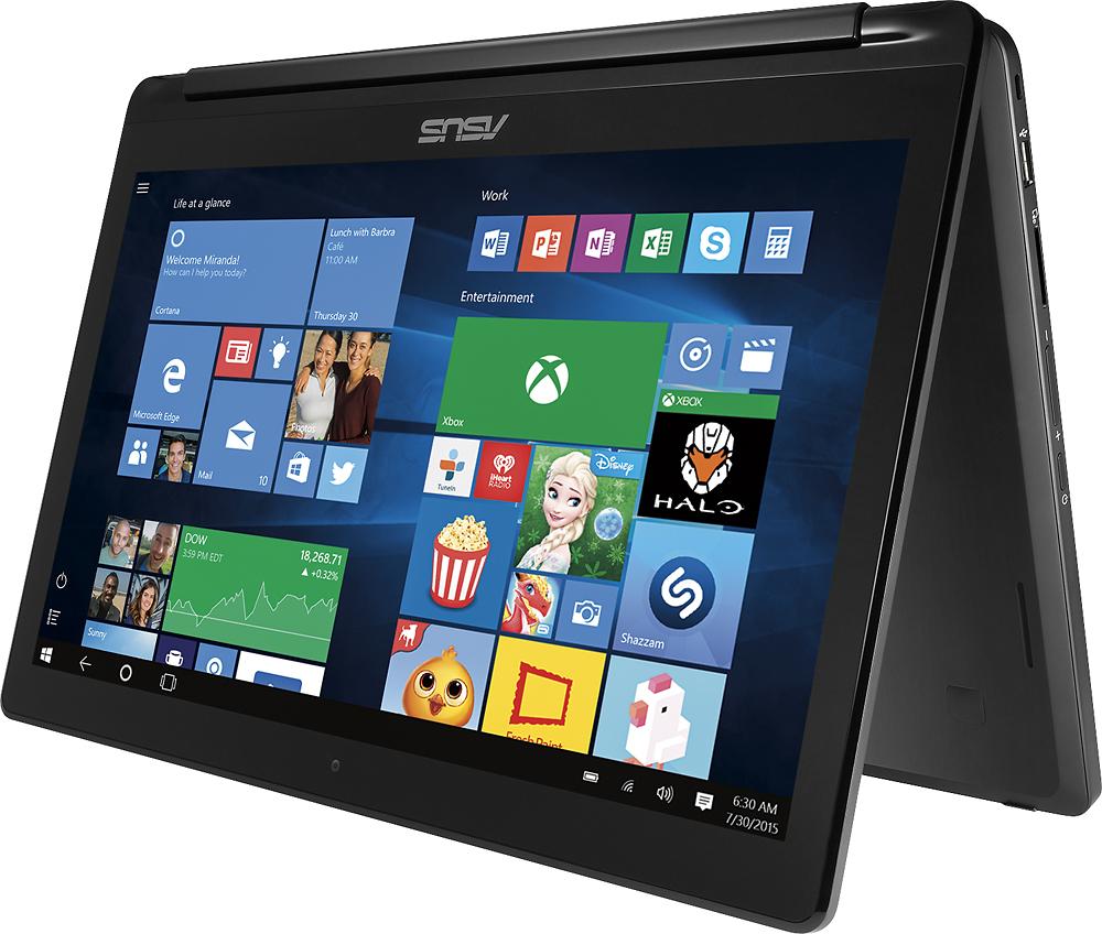 "Asus - Flip 2-in-1 15.6"" Touch-Screen Laptop - Intel Core i5 - 8GB Memory - 1TB Hard Drive - Black"