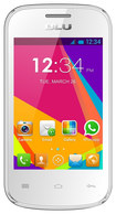 Blu - Dash Jr. Social with 256MB Memory Cell Phone (Unlocked) - White