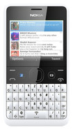 Nokia - Asha 210 with 64MB Memory Cell Phone (Unlocked) - White