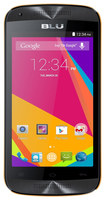 Blu - Dash Music Jr Cell Phone (Unlocked) - Black/Orange