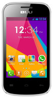 Blu - Dash Jr. Social with 256MB Memory Cell Phone (Unlocked) - Silver