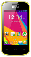 Blu - Dash Jr. Social with 256MB Memory Cell Phone (Unlocked) - Yellow