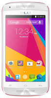 Blu - Dash Music Jr Cell Phone (Unlocked) - White/Pink