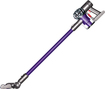 Dyson - DC59 Animal Bagless Cordless Stick Vacuum - Nickel/Red/Purple