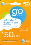 AT&T GoPhone - $50 Prepaid Wireless Airtime Card - Multi