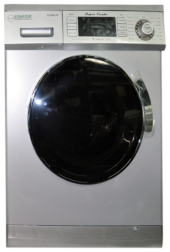 Equator - 1.6 Cu. Ft. 7-Cycle Washer and 7-Cycle Dryer Combo - Silver