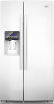 Whirlpool - 24.5 Cu. Ft. Counter Depth Side-by-side Refrigerator - White