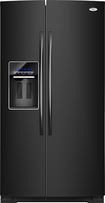 Whirlpool - 24.5 Cu. Ft. Counter Depth Side-by-Side Refrigerator - Black