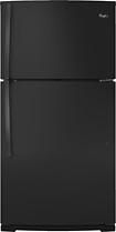 Whirlpool - 21.3 Cu. Ft. Top-freezer Refrigerator - Black