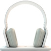 Beewi - Bluetooth Stereo Headphones with Hi-Fi Docking Station - White