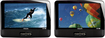 "Philips - 9"" Dual Widescreen TFT-LCD Portable DVD Players - Black"