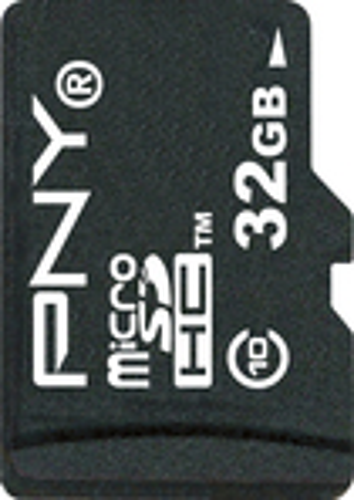 PNY - 32GB High Speed microSDHC Class 10 Memory Card - Black