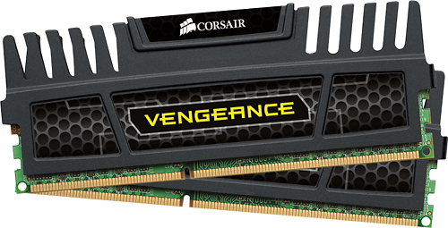 Corsair - Vengeance 2-Pack 4GB DDR3 Dimm Desktop Memory Kit - Black