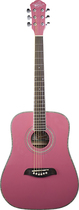 Oscar Schmidt - 6-String 3/4-Size Dreadnought Acoustic Guitar - Pink