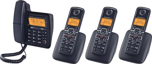 Motorola - MOTO-L704C DECT 6.0 Expandable Phone System - Black