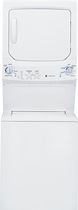 GE - 3.3 Cu. Ft. 9-Cycle Washer and 5.9 Cu. Ft. 4-Cycle Dryer Gas Laundry Center - White-on-White