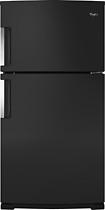 Whirlpool - 21.2 Cu. Ft. Top-freezer Refrigerator - Black