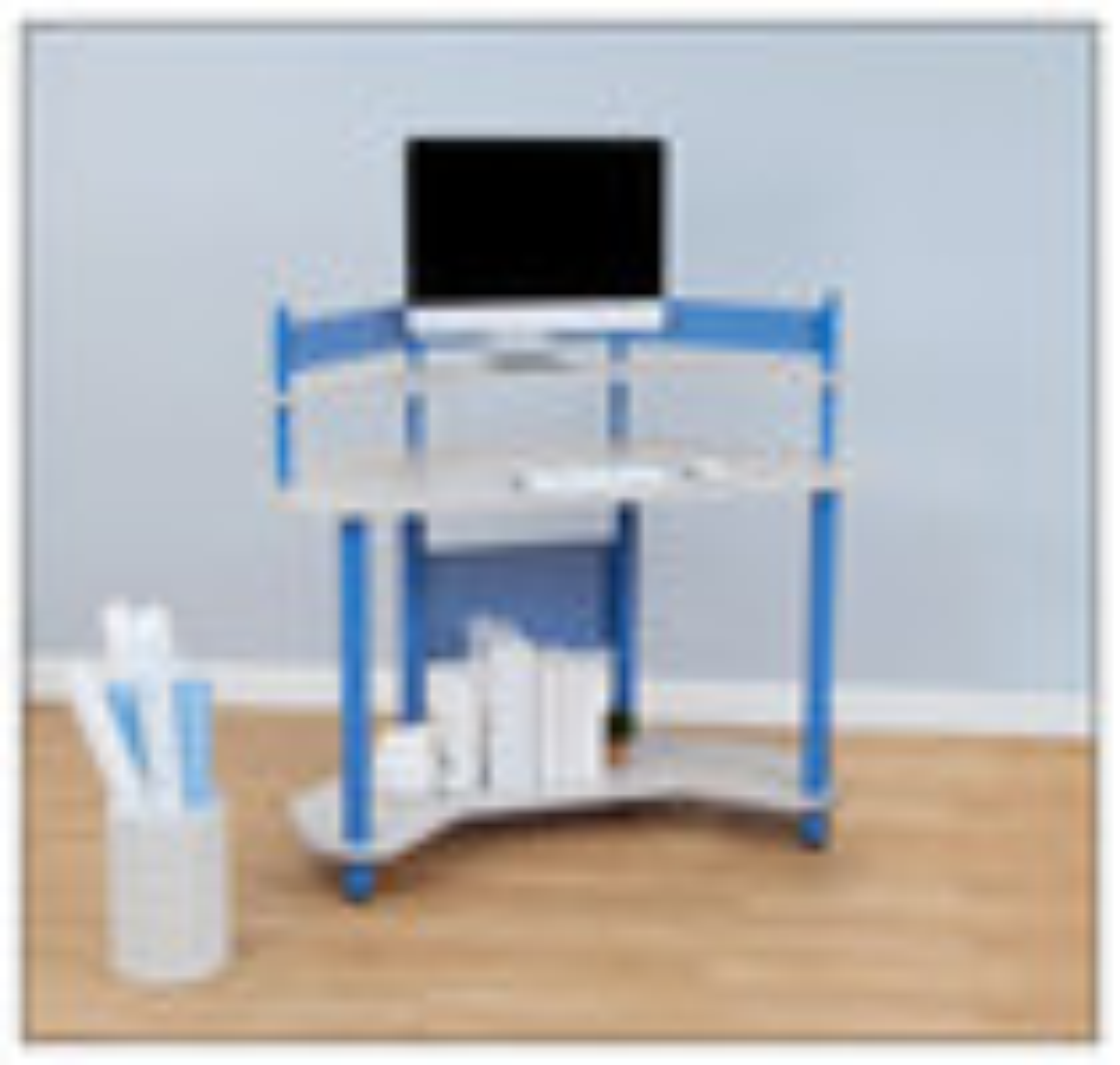Calico Designs - Study Corner Computer Desk - Blue/Gray