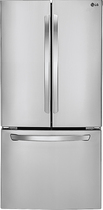 LG - 23.6 Cu. Ft. French Door Refrigerator - Stainless-Steel