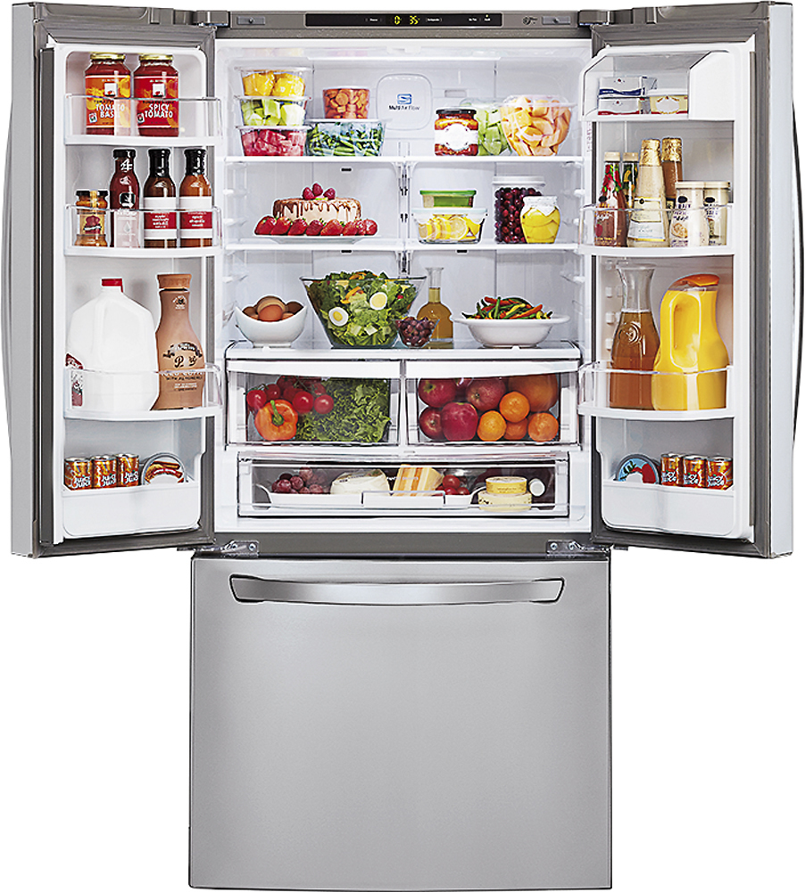 Lg 236 Cu Ft French Door Refrigerator Stainless Steel At