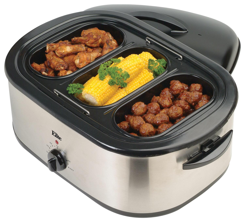 Elite Platinum - 18-Quart Roaster Oven - Stainless-Steel