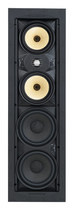 "SpeakerCraft - Profile AIM Cinema Five Dual 5-1/4"" and Dual 6"" In-Ceiling Speaker (Each) - Black"