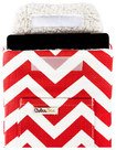 ColcaSac - Chevron Sleeve for Apple® iPad® 2, iPad 3rd Generation and iPad with Retina - Red/White