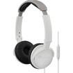 JVC - HASR500W ON-EAR HEADBAND HEADPHONES WITH REMOTE & MICROPHONE - White