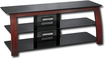 "Insignia™ - TV Stand for Flat-Panel TVs Up to 58"" - Black/Cherry"