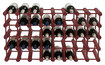 Wine Enthusiast - 40-bottle Modular Wine Rack - Mahogany