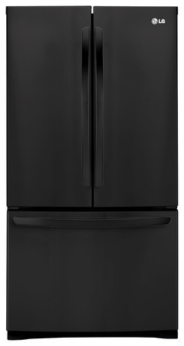 LG - 27.7 Cu. Ft. French Door Refrigerator - Black