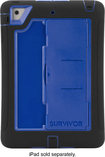 Griffin Technology - Survivor Slim Case For Apple® iPad® mini, mini 2 and mini 3 - Black/Blue