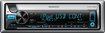 Kenwood - CD - Apple® iPod®-Ready - Marine - In-Dash Receiver with Detachable Faceplate - Blue