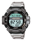 Casio - Men's Twin Sensor Multifunction Digital Sport Watch - Stainless-Steel