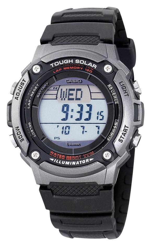 Casio - Men's Solar-Powered Multifunction Digital Sport Watch - Black