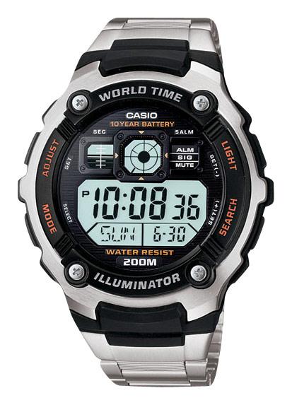 Casio - Men's Multifunctional Digital Sport Watch - Stainless-Steel