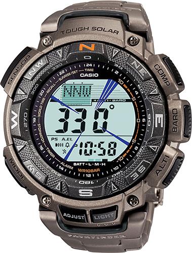 Casio - Men's Pathfinder Triple Sensor Multifunction Watch - Titanium