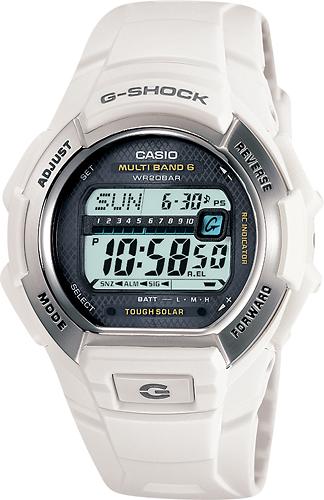 Casio - Men's G-Shock Solar Atomic Watch - White
