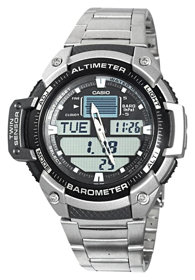 Casio - Men's Multitask Gear Sports Watch - Stainless-Steel