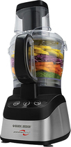 Black & Decker - PowerPro 2-in-1 Food Processor and Blender - Black/Stainless-Steel