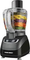 Black & Decker - 8-Cup Food Processor - Black