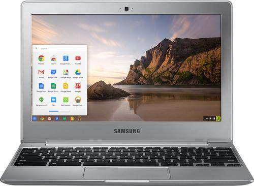 Samsung - 11.6 Chromebook 2 - Intel Celeron - 4GB Memory - 16GB eMMC flash memory - Metallic Silver