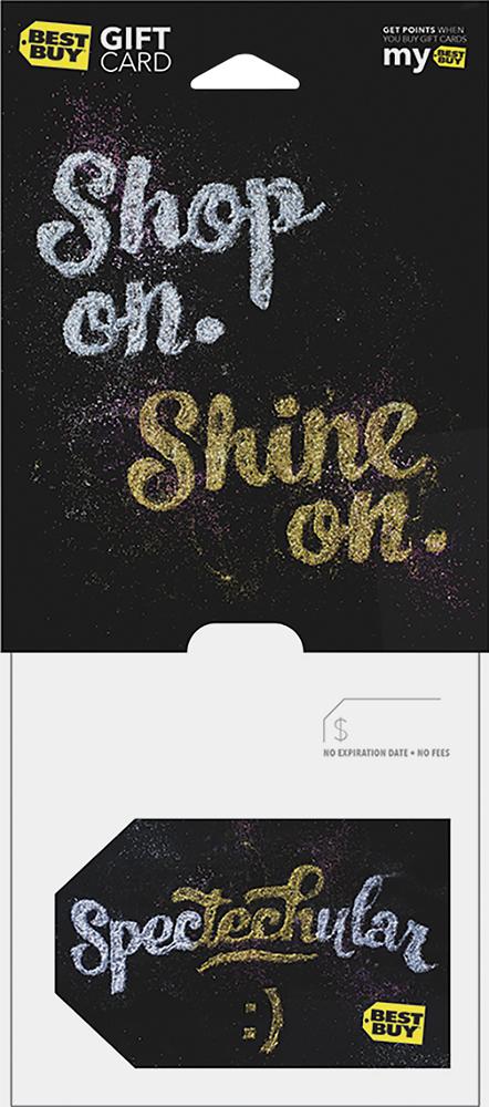 Best Buy Gc - $75 Glitter Spectechular Gift Card - Multi