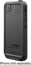 LifeProof - Case for Apple® iPhone® 4 and 4S - Black